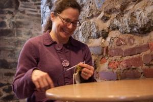 Kathleen in Cafe