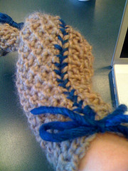 Hand Mitts, with Contrast