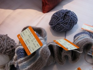 Yarn, Train Tickets, and Scarf
