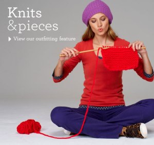Boden: Woman Knitting