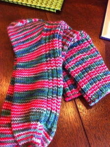 Finished Comfort & Joy Socks