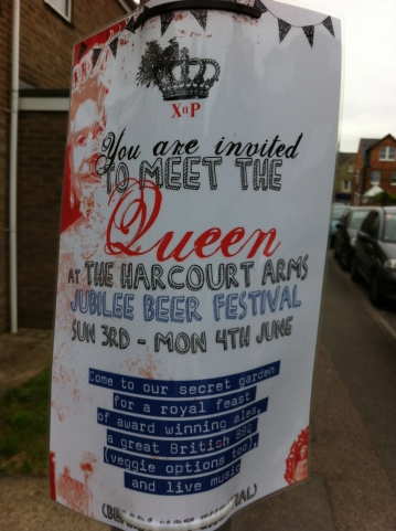 Harcourt Arms Jubilee Sign