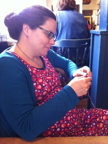 Knitting at Diamond Jubilee Party