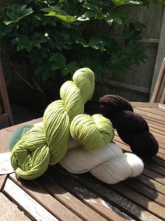S&C Sweater: Green, Brown, Cream