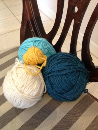 S&C Sweater: Teal, Blue, Cream, Yellow