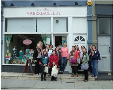 Purple Group at the Village Haberdashery